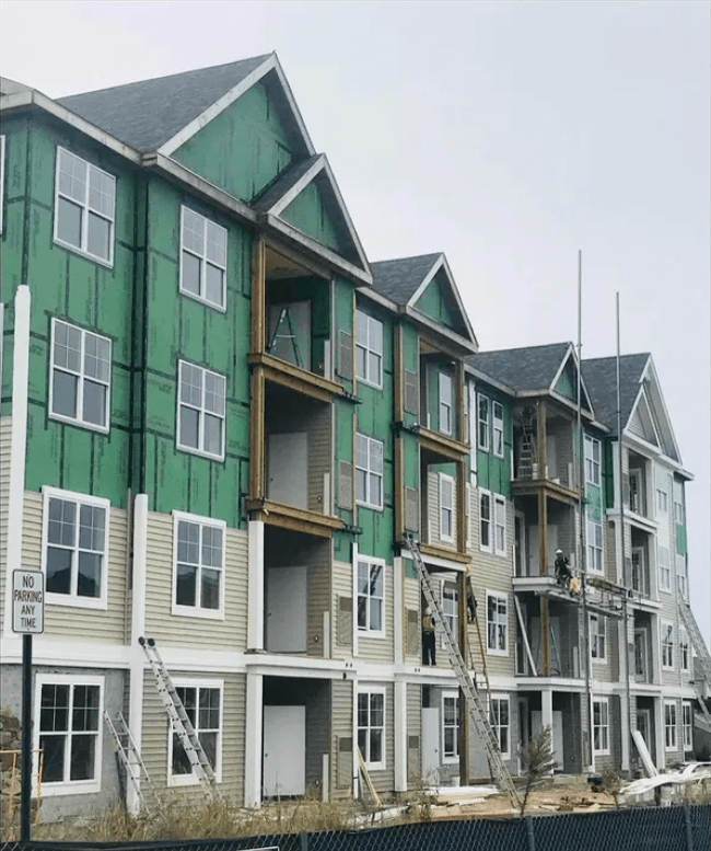 Apartment complex and siding work